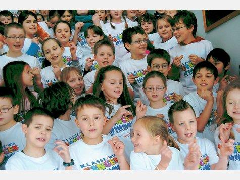 Klasse! Wir singen - auch Evingser und Dahler Kinder waren in der Westfalenhalle mit dabei.