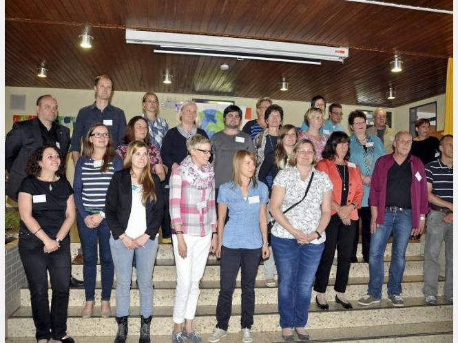 Das Kollegium der Sekundarschule wächst: Einige der neuen Lehrer stellten sich bereits beim Kennenlerntag vor knapp zwei Wochen vor.