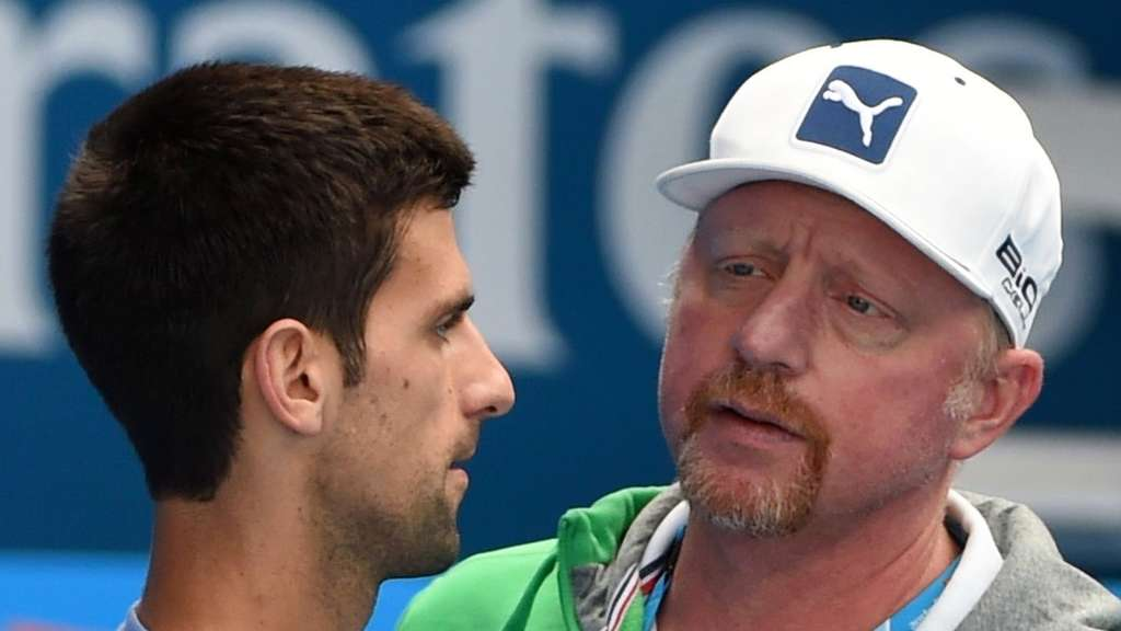 Boris Becker Novak Djokovic French Open