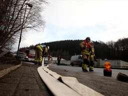Feuerwehreinsatz an der Lösenbacher Landstraße