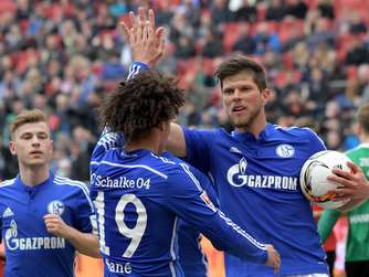 Schalke 04 sichert mit 3:1 in Hannover Europa League