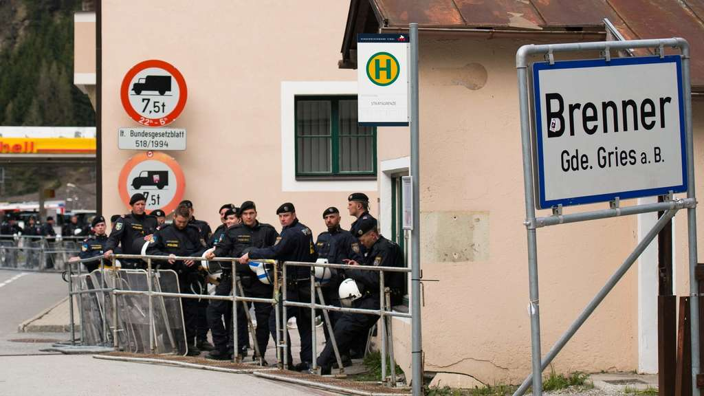 Clashes over re-introduction of border controls at the Brenner pa