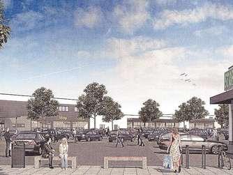 So soll es aussehen. Vier Gebäude und 293 Stellplätze entstehen auf dem Bahngelände. Angestrebt wird der Bezug im Spätsommer kommenden Jahres.