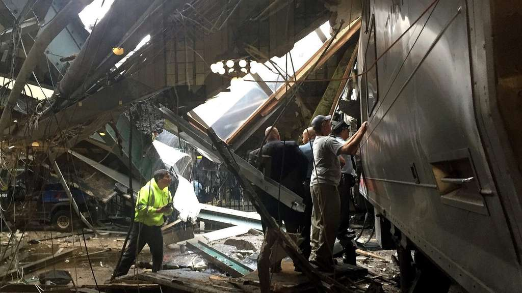 New Jersey Transit Commuter Train Crashes At Hoboken Terminal