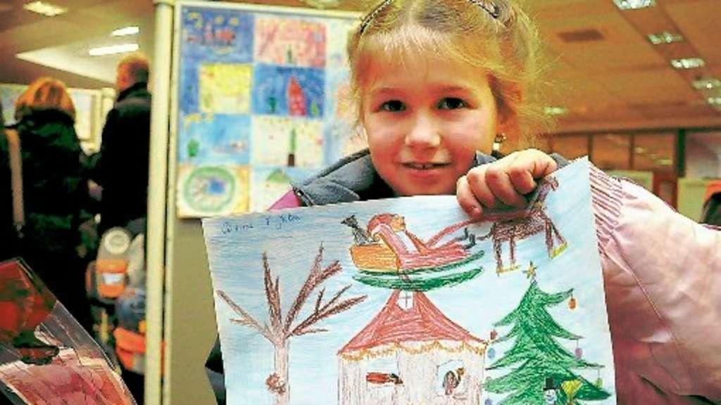 Weihnachtsbilder Gemalt.Malwettbewerb Für Erstklässler Der Balve Grundschulen Bilder Sind