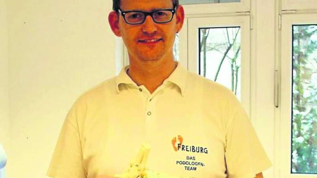 Podologe Björn Freiburg ist mit seiner Praxis der erste Mieter im Gesundheits-Campus.