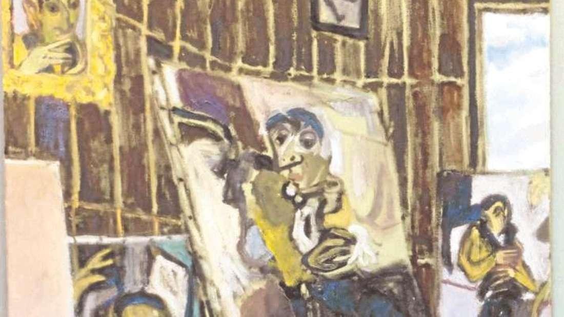 """Der Galerist, gespiegelt in seinen Bildern: Lenz Geerks """"FlechtheimI"""" ist in Hagen zu sehen."""
