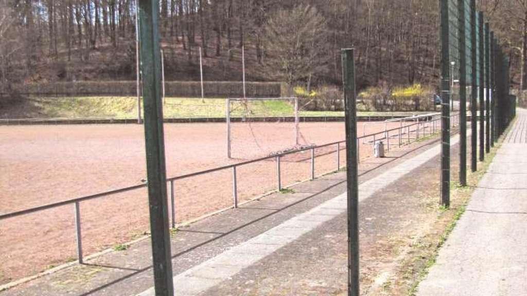 Sportplatz Zaun Einfach Abmontiert Meinerzhagen