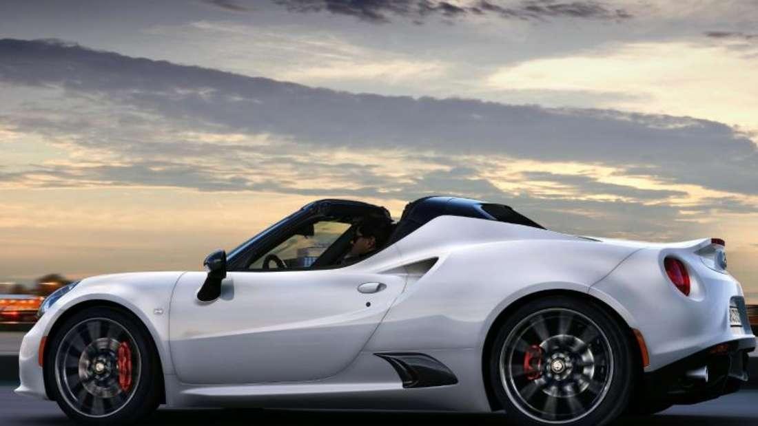 Alfa Romeos Sportler oben ohne:der 4C Spider. Foto: Alfa Romeo