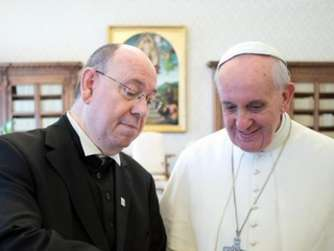 POPE FRANCIS RECEIVES PRESIDENT OF THE COUNCIL OF EVANGELICAL CHU