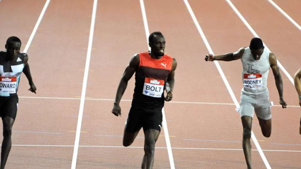 Sprint-Star Usain Bolt gewann in London die 200 Meter in 19,89 Sekunden. Foto: Gerry Penny