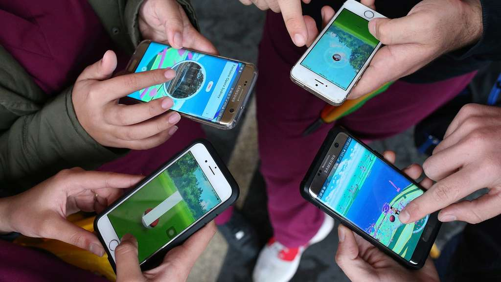 Pokemon Go game at Sydney Opera House in Sydney, New South Wales