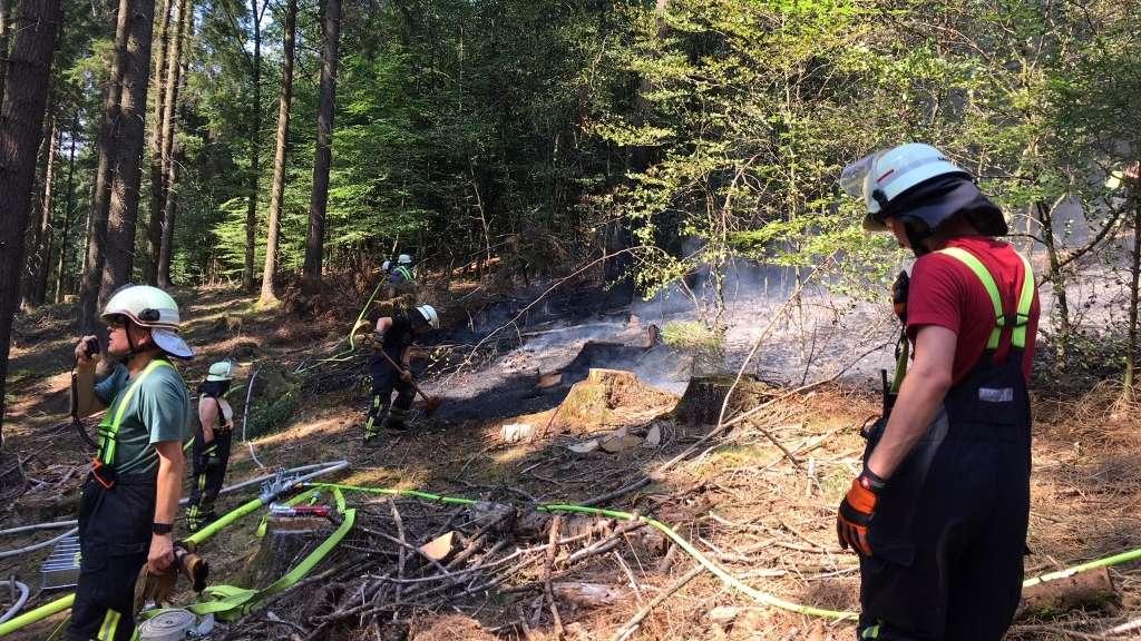 03.08.2018 Waldbrand Schwenke;LZ Halver und Buschhausen;Unterstützung durch Löschgruppe Hahnenberg