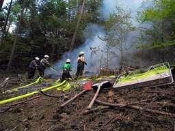 Feuer im Wald in Schwenke
