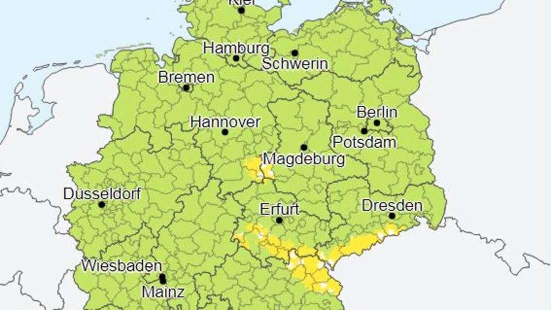 Es schneit vor Deutschland - DWD warnt vor Wind und Glätte