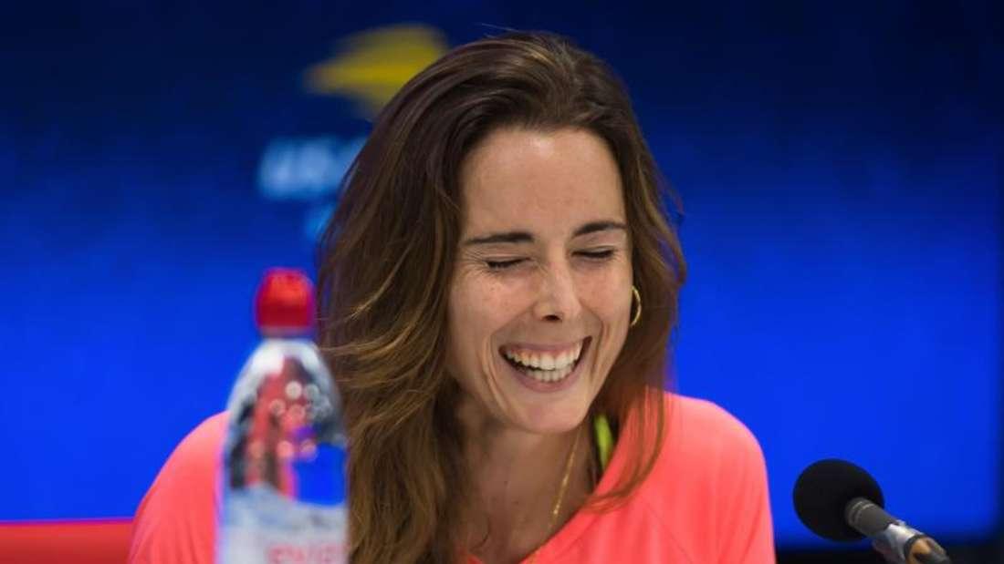 Hatte sich auf dem Tennisplatz umgezogen: Alizé Cornet. Foto: Afp7/AFP7 via ZUMA Wire