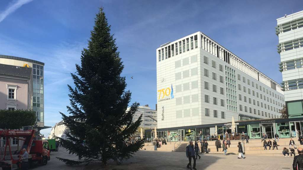 Größter Tannenbaum Deutschlands.15 Meter Tanne Am Stern Center In Lüdenscheid Ist Das Der Größte