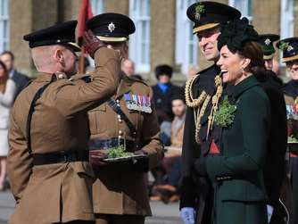 Kate und William feiern den St. Patrick's Day