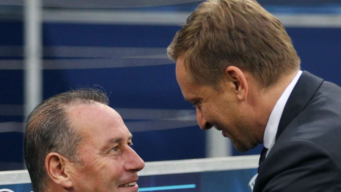 Feierten zusammen Erfolge beim FC Schalke 04: Huub Stevens (links) und Horst Heldt