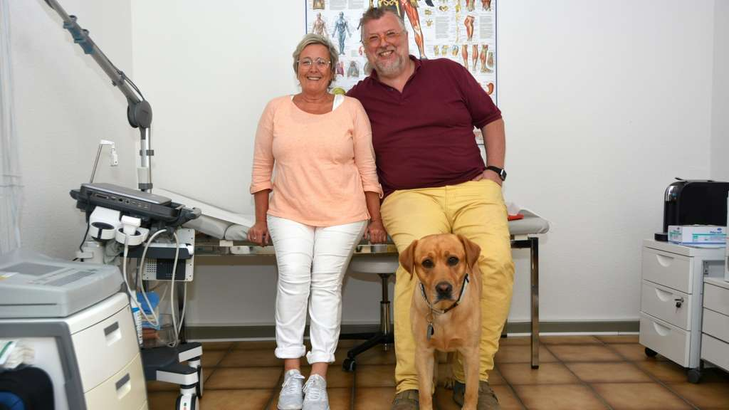 Mit Therapiehund