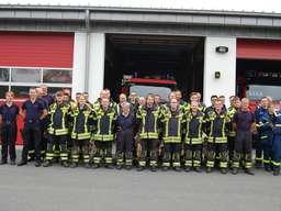 Waldbrandübung der Feuerwehr Halver