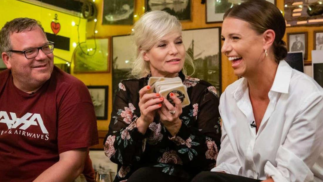 """Gastgeberin bei """"Inas Nacht"""": Ina Müller lud sich zum Start der neuen Staffel Laura Wontorra und Elton ein."""