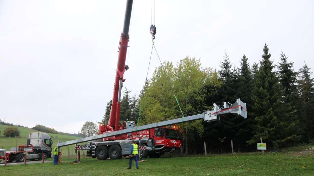 Aufbau der Vogelstange in Garbeck