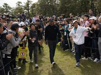 Tiger Woods bei PGA-Turnier in Japan an der Spitze