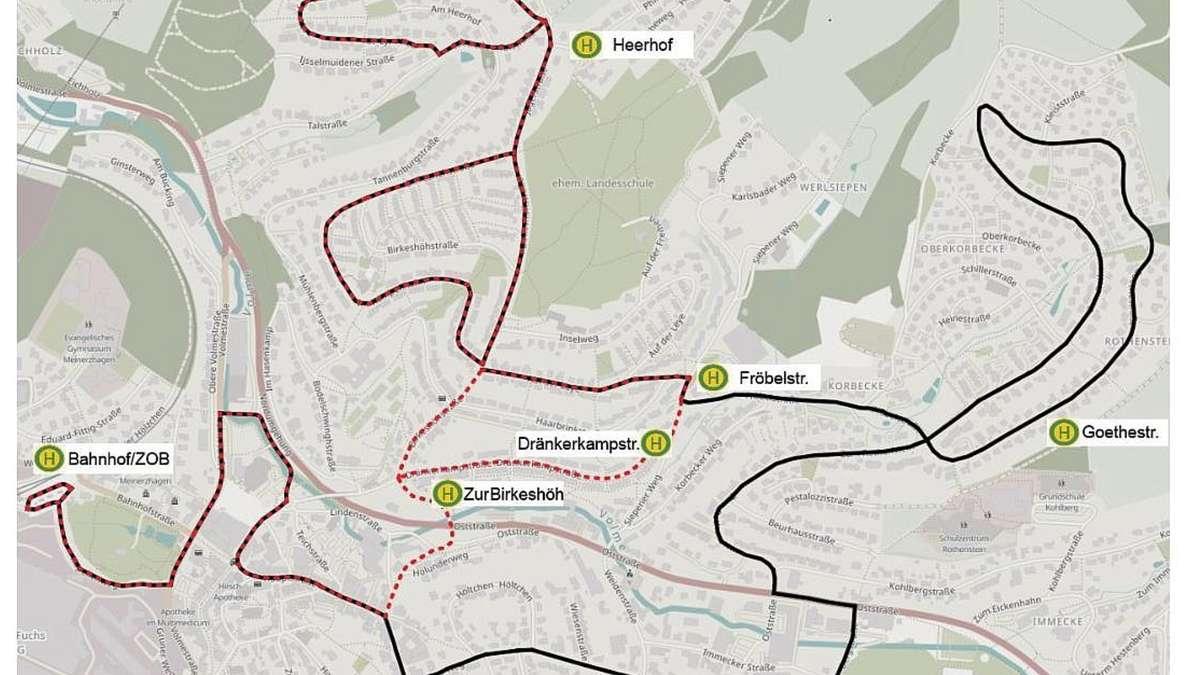 Stadtverkehr Meinerzhagen: MVG-Linien 81 und 98 verschmelzen | Meinerzhagen - come-on.de