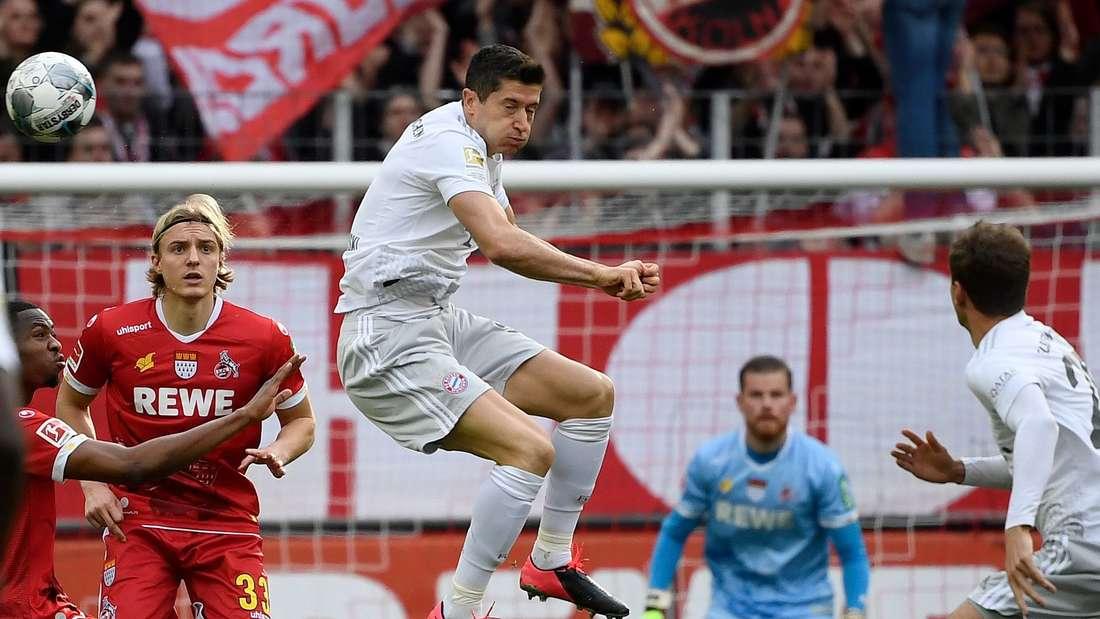 Immer gefährlich: Robert Lewandowski (Mi.) für den FC Bayern.