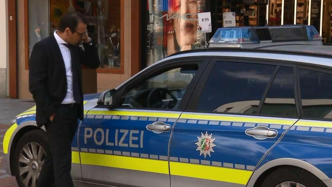 Ulf Kirsten traf im Anzug auf die Polizei.