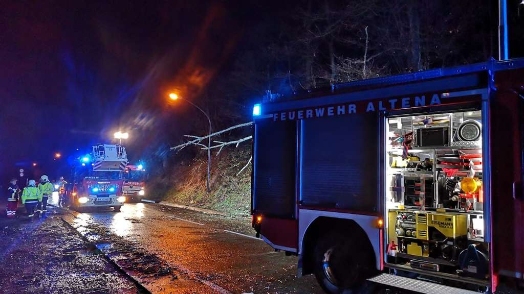 Sturmtief Yulia hinterlässt Spuren in Altena