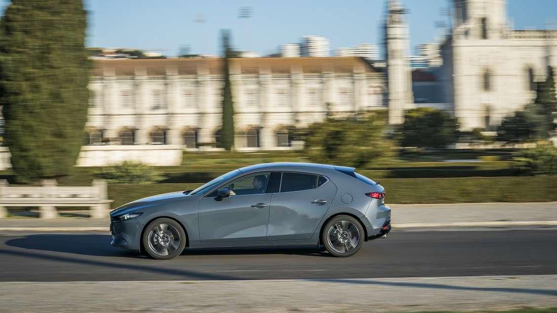 Schnittiges Design: Der Mazda3 legt einen sportlichen Auftritt hin