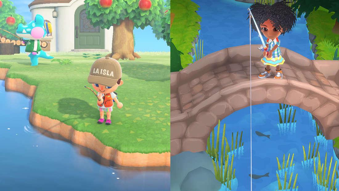 Zum Verwechseln ähnlich: Links Animal Crossing: New Horizons und rechts Hokko Life
