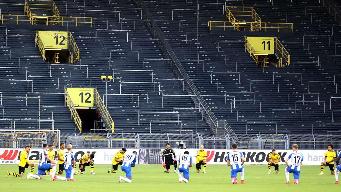 BVB vs. Hertha BSC: Teams setzen deutliches Zeichen gegen Rassismus