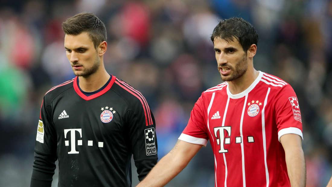 Sven Ulreich (l.) und Javi Martinez.