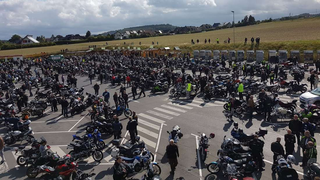 1.000 Teilnehmer an der Biker-Demo zählte die Polizei.