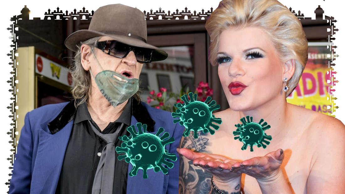 Udo Lindenberg trägt eine Maske, Melanie Müller nicht. Die Schlager-Sängerin hat sich mit dem Coronavirus infiziert.