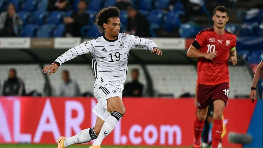 Leroy Sane im Spiel gegen die Schweiz.