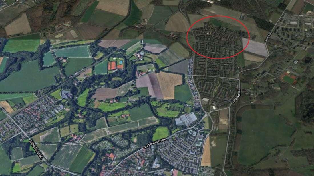 Stadtteil Dorbaum in Münster bei Google Maps