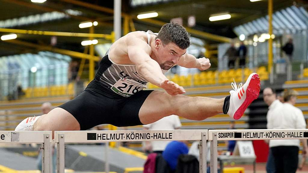 Hürdensprinter in der Körnig-Halle