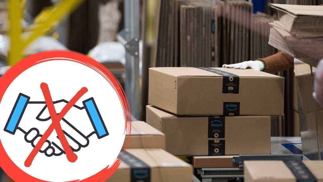 Amazon-Pakete in einer Halle