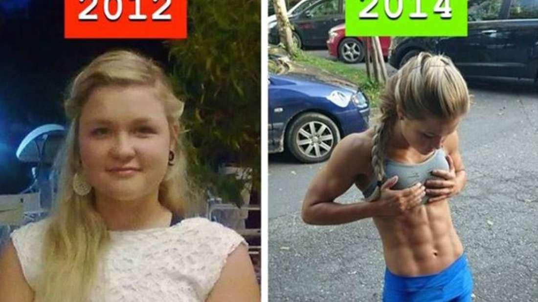 Vorher-Nachher: Ein Bild von 2012 und eins von 2014