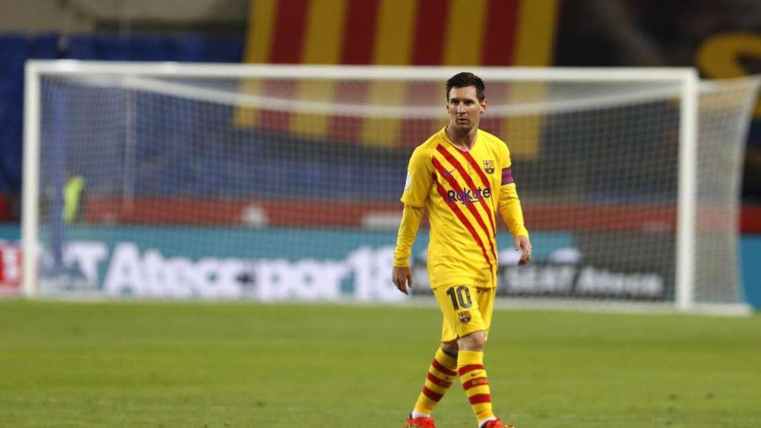 Lionel Messi im Trikot des FC Barcelona beim spanischen Pokalfinale in Sevilla.
