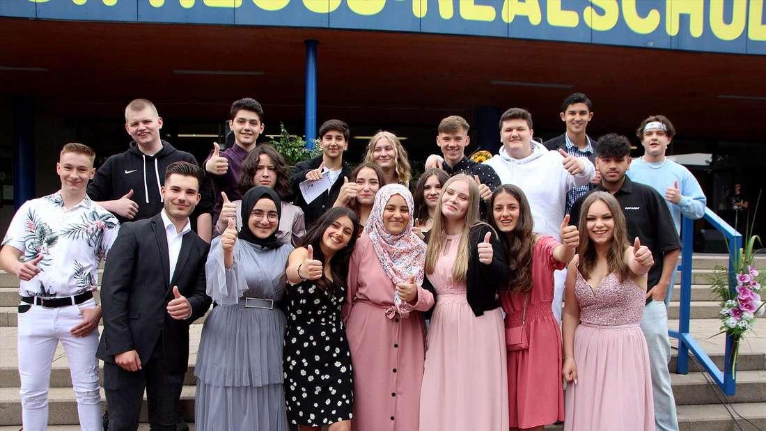 Der Abschlussjahrgang der Theodor-Heuss-Realschule