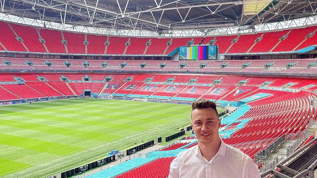Niklas Jarod Krinke im Londoner Wembleystadion.