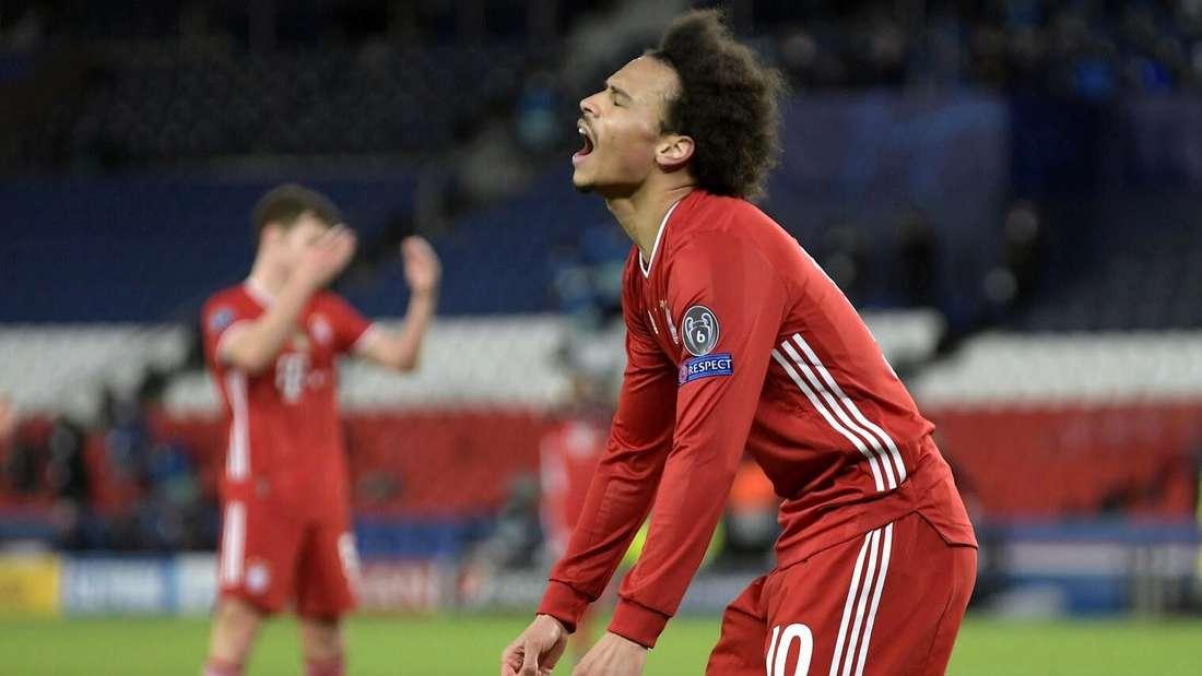 Leroy Sané und der FC Bayern mussten sich im CL-Viertelfinale 2021 Paris beugen - als letztes Opfer der Auswärtstorregel