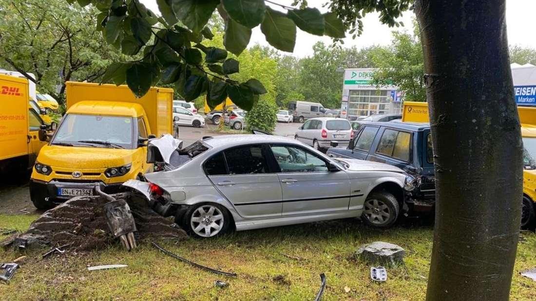 Verkehrsunfall mit BMW