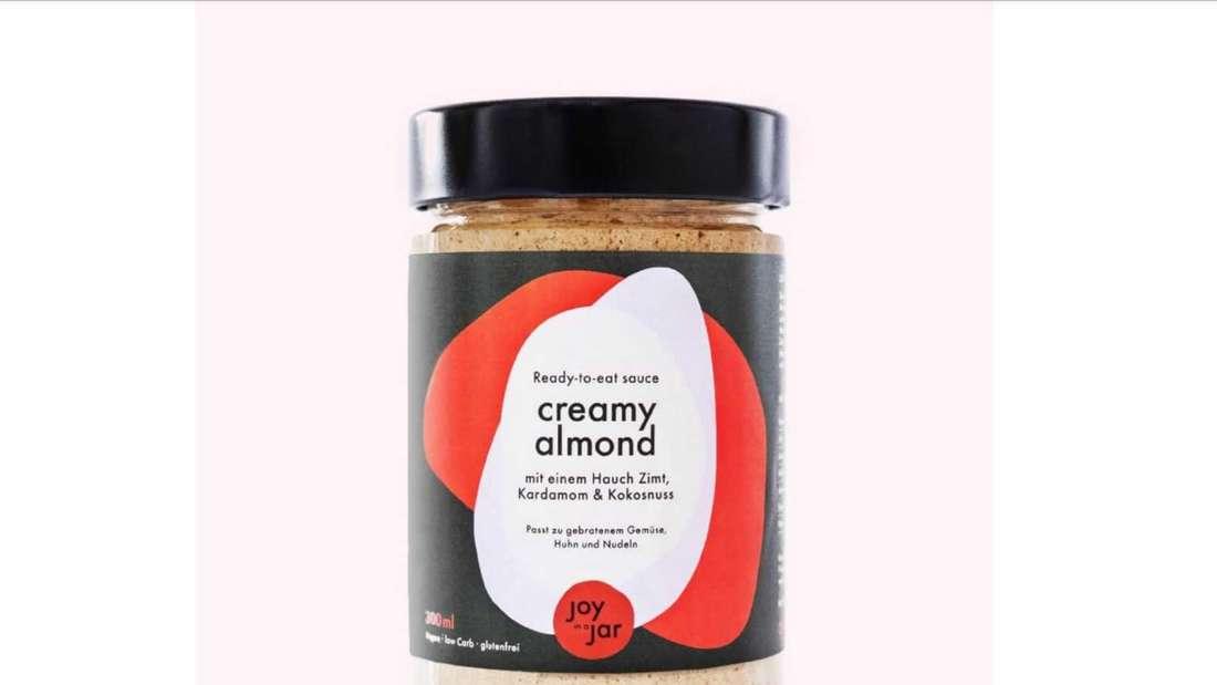Creamy Almond Ready to eat vegan Soße des Herstellers Joy in a Jar im 300ml Glas.