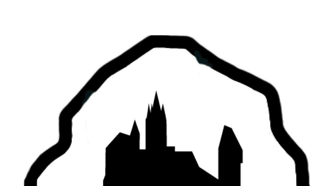 Das Wanderzeichen des neuen Wanderwegs von Burg Altena zur Dechenhöhle